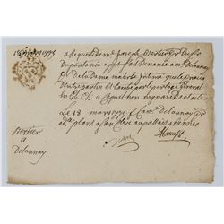 1775 French National Revenue Documents