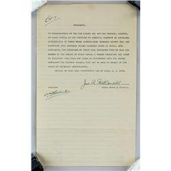 1919 Tar Island Oil & Gas Company Indemnity Letter