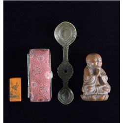 Lot of Four Antique Chinese Items