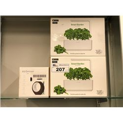 2 SMART GARDEN CLICK & GROW KITS, AND 1 AIRSENSE WI-FI AIR QUALITY MONITOR/PURIFIER