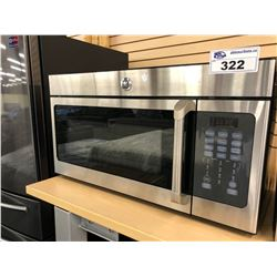 GE STAINLESS STEEL OVER THE RANGE MICROWAVE OVEN
