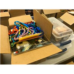 LOT OF CANDLE MAKING SUPPLIES, LEASHES AND MISC