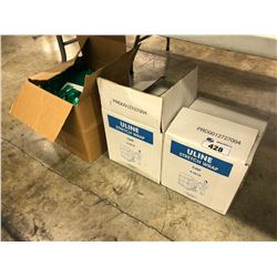 LOT OF 2 BOXES OF SHRINK WRAP AND PACKAGING SUPPLIES