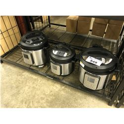 3 ASSORTED INSTANT POTS