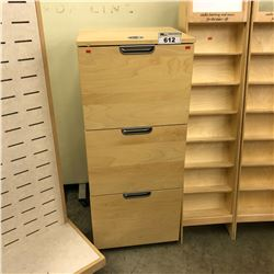 MAPLE 3 DRAWER VERTICAL FILE CABINET