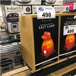 HIMALAYAN CRYSTAL SALT LAMP, DOG DESIGN
