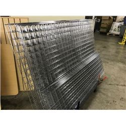 LARGE LOT OF SLAT WALL AND WALL ORGANISERS (CART NOT INCLUDED)