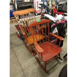 2 Wood Rocking Chairs
