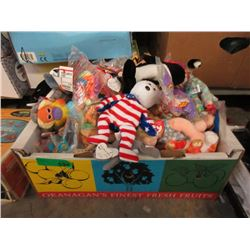 Box of New Stuffed Toys - Many Beanie Babies