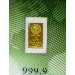 1/10 Gram .9999 Fine Gold Investor Bar