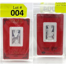 PAMP Suisse Mint 2014 Year of the Horse Silver Bar