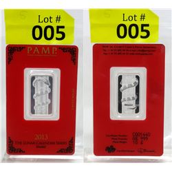 PAMP Suisse Mint 2013 Year of the Snake Silver Bar