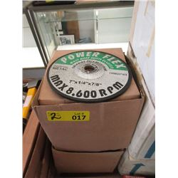 "2 Cases of 7"" x 1/4"" Metal Grinding Wheels"