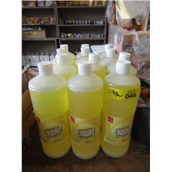 12 One Quart Bottles of Dishwashing Liquid