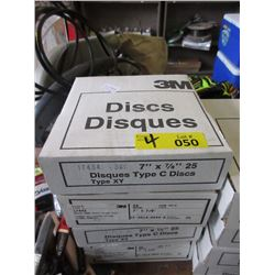 4 Boxes of Resin Bond Heavy Sanding Discs - 7-7/8""