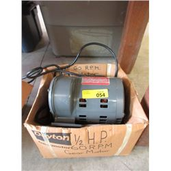 New 1/2hp 60rpm Gear Motor