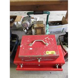 Portable Air Compressor & 2 Tool Boxes