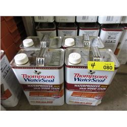 4 Gallons of Thompson's WaterSeal Wood Stain