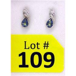 New 1 CT Mystic Topaz & Diamond Earrings