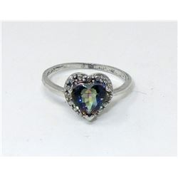Mystic Topaz & Diamond Sweetheart Ring