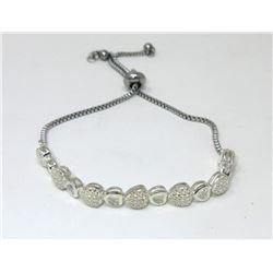 Heart Motif Diamond Tennis Bracelet