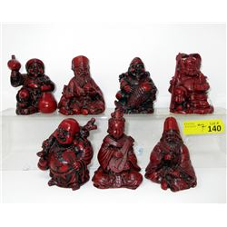 """""""The Seven Gods of Fortune"""" Set of Statuettes"""