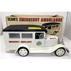 Beam's Emergency Ambulance Porcelain Decanter