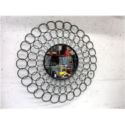 "38"" Metal Framed Wall Mirror"