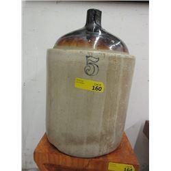 Vintage 5 Gallon Two Tone Pottery Jug
