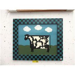 "Kim Corrigan ""The Jigsaw Cow Painting """