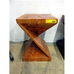 One Piece Hand Made Twisted Pine End Table