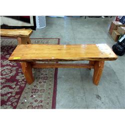 Hand Crafted Live Edge Cedar Bench/Coffee Table