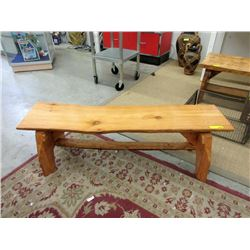 Hand Crafted Live Edge Solid Pine Bench/Coffee Table
