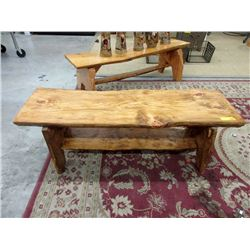 Hand Crafted Live Edge Solid Cedar Bench/Coffee Table