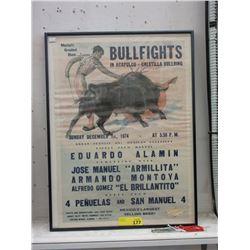 1974 Acapulco Caletilla Bullring Poster