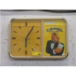 Vintage Spanish Language Camel Cigarette Clock