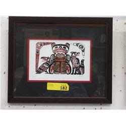 Richard Shorty Framed Print - Frog Copper Design