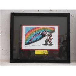 Richard Shorty Framed Print - Rainbow Grizzly
