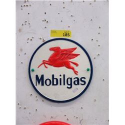 "Cast Iron 9""  Mobilgas Sign with Raised Detail"
