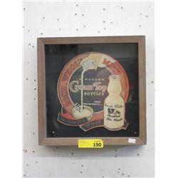 "Vintage 1950s Framed ""Cream Top Milk"" Ad"