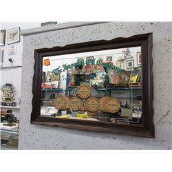 "Wood Framed ""Imperial Oil"" Executive Mirror"