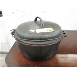 Sidney Ware #8 Cast Iron Pot with Lid