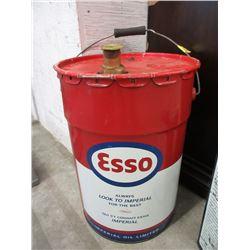 1968 Nine Gallon Esso Gear Oil Pail