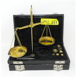 2 New Brass Jewelers Scales in Fitted Boxes