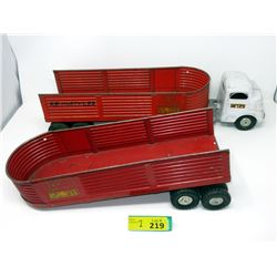 1950s Structo Steel Cargo Transport Semi-Trailer