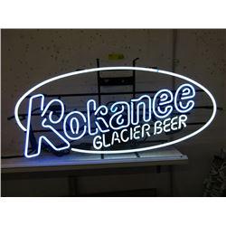 """Vintage Electric Neon """"Kokanee Glacier Beer"""" Sign"""