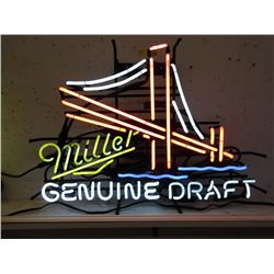 "Vintage Electric Neon ""Miller Genuine Draft"" Sign"
