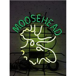 """Vintage Electric Neon """"Moose Head Beer"""" Sign"""