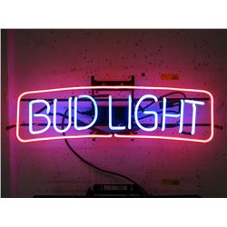 "Vintage Electric Neon ""Bud Light"" Sign"