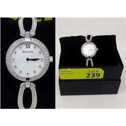 New in Box Ladies Swarovski CrystalBulova Watch